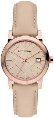 Burberry Women's BU9109 Leather Strap Dial Watch