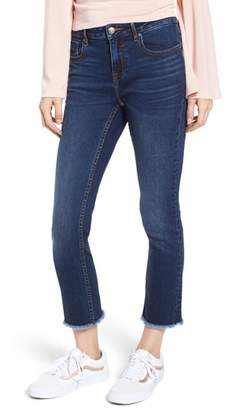 Vigoss Fray Hem Crop Straight Leg Jeans