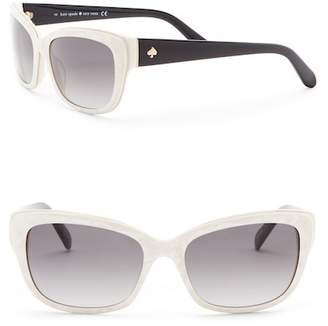 Kate Spade Johanna 53mm Squared Cat Eye Sunglasses