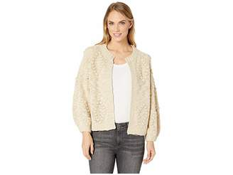 Lucky Brand Bobble Diamond Cardigan Sweater