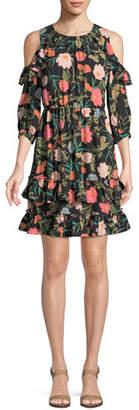Kate Spade Blossom Cold-Shoulder Mini Dress