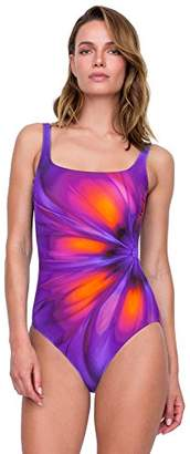 Gottex Women's Extra Coverage Printed Square Neck One Piece Swimsuit