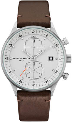 Giorgio Fedon Men's Leisure I Leather Watch, 43mm