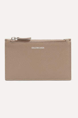 Balenciaga Ville Printed Textured-leather Cardholder - Mushroom