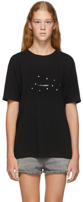Saint Laurent Black Rive Gauche Stars T-Shirt