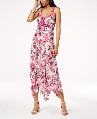 INC International Concepts I.N.C. Printed Handkerchief-Hem Maxi Dress, Created for Macy's