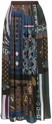 Kolor printed maxi skirt