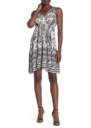 Hale Bob V-Neck Sleeveless Dress