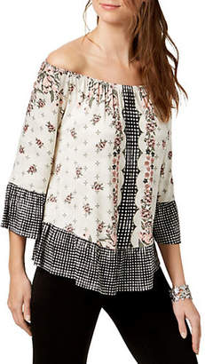 Style&Co. STYLE & CO. Off-The-Shoulder Flounced Top