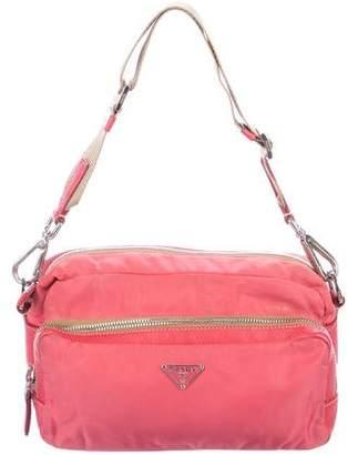 Prada Leather-Trimmed Tessuto Camera Bag