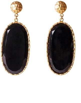 Christina Greene - Large Drop Earrings in Black Onyx