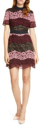 Ted Baker Jaseyy Paneled Lace Cocktail Dress