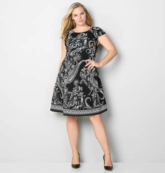 Avenue Cap Sleeve Paisley Dress