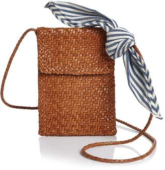Loeffler Randall Nora Woven Leather Mini Crossbody