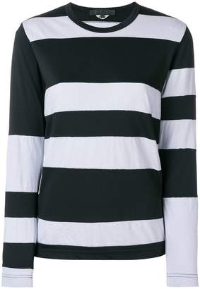 Comme des Garcons striped style sweatshirt
