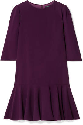 Dolce & Gabbana Ruffled Stretch-cady Mini Dress - Grape