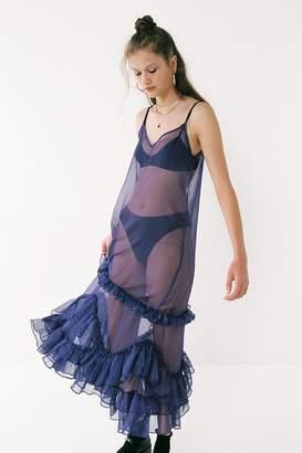 Style Mafia Mischa Sheer Mesh Ruffle Dress