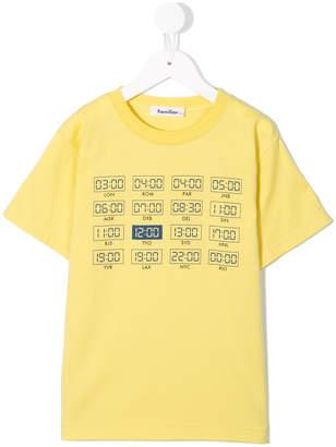 Familiar city clock print T-shirt