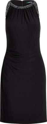 Ralph Lauren Sequined Cutout Jersey Dress