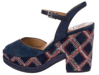 Tory Burch Suede Platform Sandals