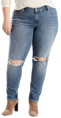 Levi's Plus 711 Plus Skinny Distressed Jeans
