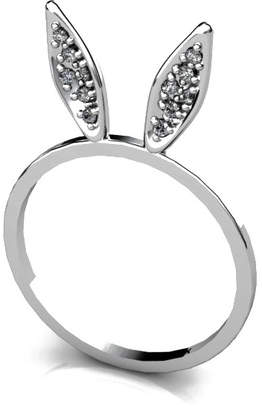 "Antoanetta 14k White Gold Ring ""Glamour Bunny"""