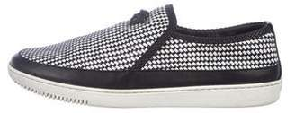 Versace Leather Slip-On Sneakers