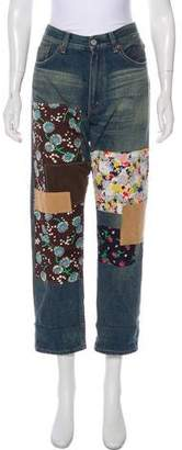 Junya Watanabe Patchwork Mid-Rise Jeans