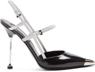 Prada Point-toe leather pumps