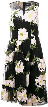 Simone Rocha floral embroidered dress