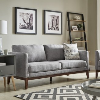 Weston Home Riley Linen Upholstered Sofa with Wood Legs, Multiple Colors