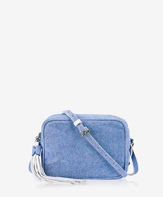 GiGi New York Madison Crossbody Denim Italian Calfskin Leather