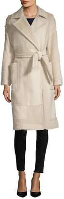 Max Mara Women's Ford Wool & Angora Fur Belted Coat