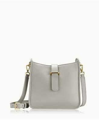 GiGi New York Elle Crossbody In Grey Napa Luxe