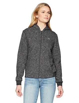 Lacoste Women's Sport Long Sleeve Hooded Fleece Pocket Sweatshirt