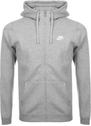 Nike Club Full Zip Hoodie Grey