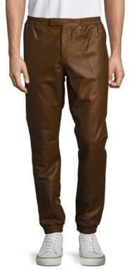 Ralph Lauren Purple Label Solid Leather Pants