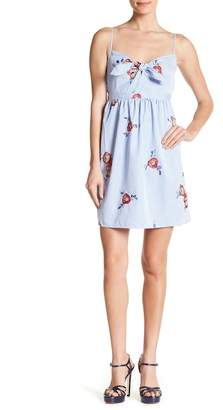Romeo & Juliet Couture Embroidered Floral Striped Dress