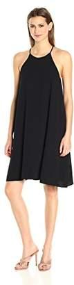 Halston Women's Sleeveless High Neck Flowy Cami Dress