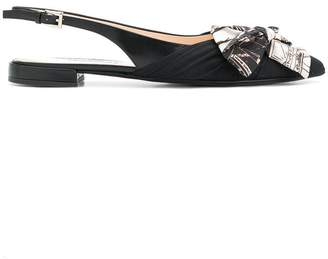 Prada slingback bow sandals