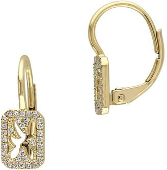 Concerto 14K Yellow Gold and 0.15 CT. T.W. Diamond Cutout Drop Earrings