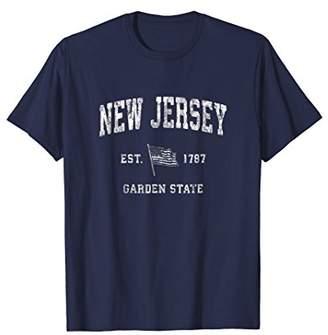 New Jersey T-Shirt Vintage US Flag Sports Design Tee