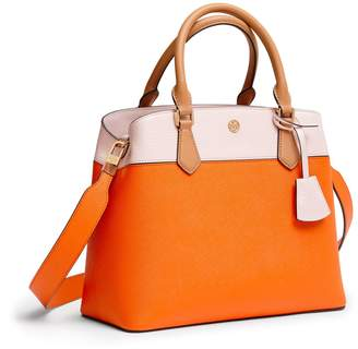 Tory Burch ROBINSON COLOR-BLOCK TRIPLE-COMPARTMENT TOTE