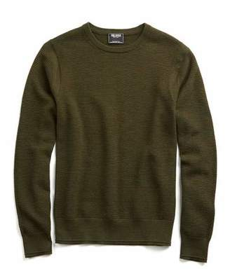 Todd Snyder Merino Waffle Crewneck Sweater in Olive