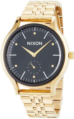 Nixon 38mm Sala Bracelet Watch, Black/Golden
