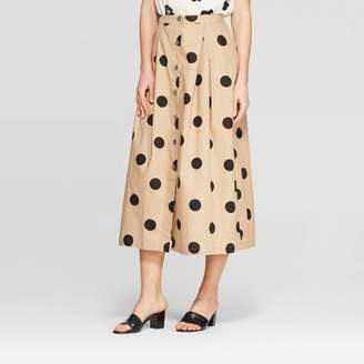 Who What Wear Women's Button Front Full Skirt