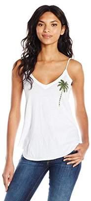 Chaser Women's Vintage Jersey V Neck Scoop Back Shirttail Cami