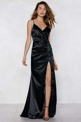 Nasty Gal Cue Applause Satin Dress