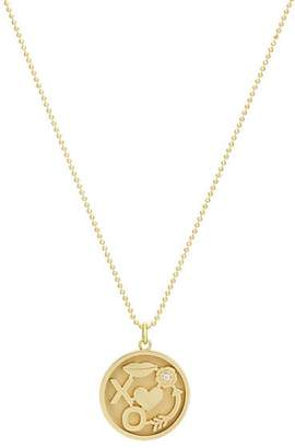 Jennifer Meyer Women's Lucky In Love Pendant Necklace - Gold