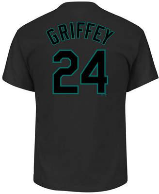 Majestic Men's Ken Griffey Jr. Seattle Mariners Pitch Black Player T-Shirt